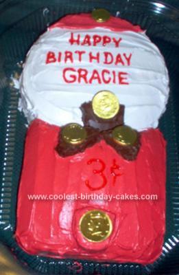 Homemade Bubble Gum Machine Cake