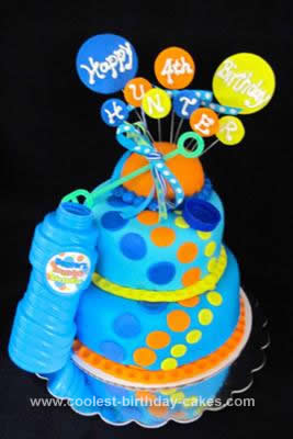 Swell Coolest Bubbles Cake Personalised Birthday Cards Paralily Jamesorg