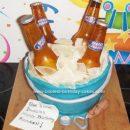 Homemade Bucket of Beer Cake
