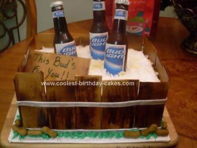 Homemade Budweiser Cake