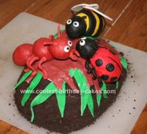 Pleasant Coolest Homemade Bugs Cakes Funny Birthday Cards Online Overcheapnameinfo