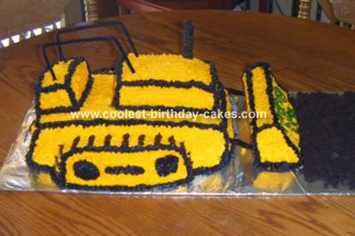 Enjoyable Coolest Bull Dozer Cake Personalised Birthday Cards Beptaeletsinfo