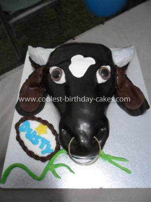 Homemade Bull Head Cake