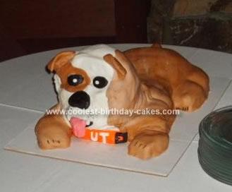Homemade Bulldog Cake
