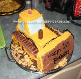 Homemade Bulldozer Cake