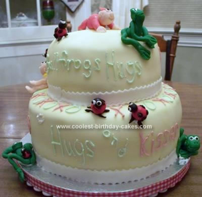 Homemade Bullfrogs And Ladybugs Cake