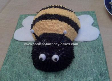 Homemade Bumble Bee Birthday Cake