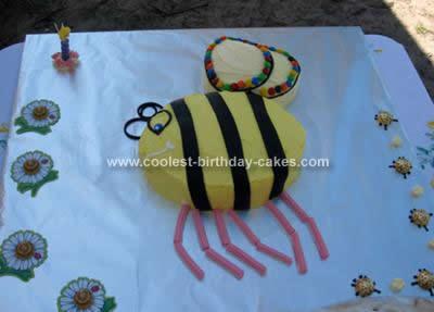 Homemade  Bumble Bee Birthday Cake