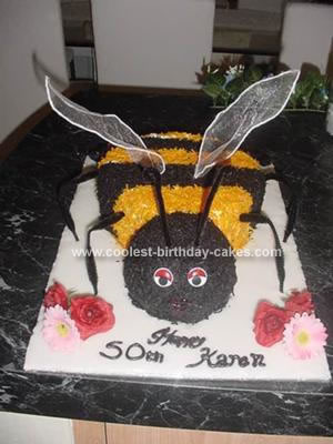 Homemade Bumble Bee Cake