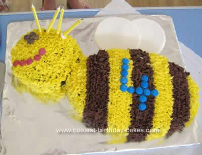 Homemade Bumblebee Birthday Cake