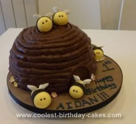 Homemade Bumblebee Cake