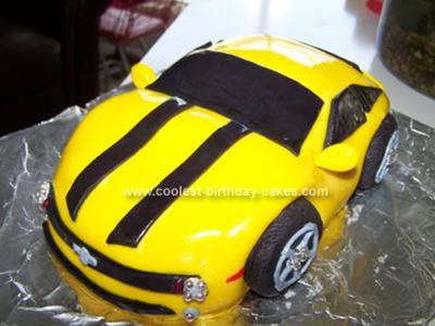 Incredible Coolest Bumblebee Camaro Birthday Cake Funny Birthday Cards Online Inifofree Goldxyz