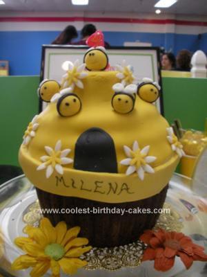 Homemade Bumblebee Cupcake Cake