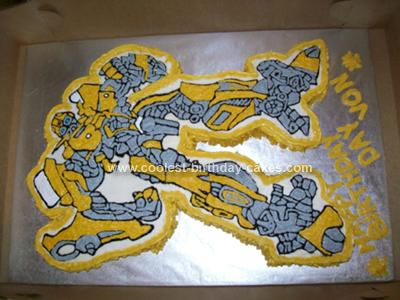 Bumblebee camaro cake