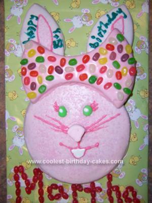 Cute Homemade Bunny Birthday Cake