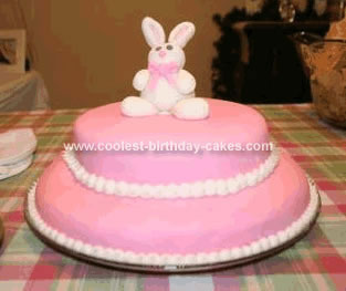 Homemade Bunny  Birthday Cake