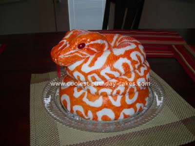 Homemade  Burmese Python Snake Cake
