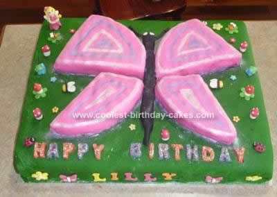 Peachy Cool Shaped Homemade Butterfly Birthday Cake Funny Birthday Cards Online Alyptdamsfinfo