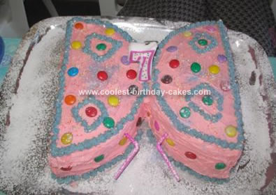 Admirable Easy Homemade Pink Butterfly Birthday Cake Personalised Birthday Cards Epsylily Jamesorg
