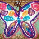 Homemade Butterfly Birthday Cake