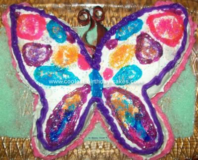 Strange Cool Homemade Colorful Butterfly Birthday Cake Funny Birthday Cards Online Alyptdamsfinfo