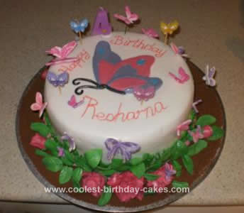 Homemade Butterfly Crazy Cake