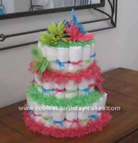 Homemade Butterfly Diaper Cake Design