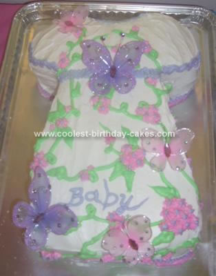 Homemade Butterfly Dress Cake