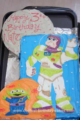 Homemade Buzz Light Year Cake Design