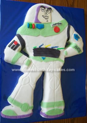 Homemade Buzz Lightyear Birthday Cake