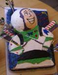 Homemade Buzz Lightyear Birthday Cake