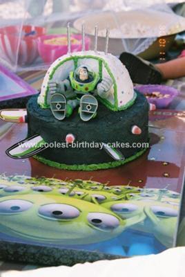 Homemade Buzz Lightyear Cake