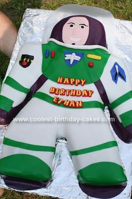 Homemade Buzz Lightyear Cake