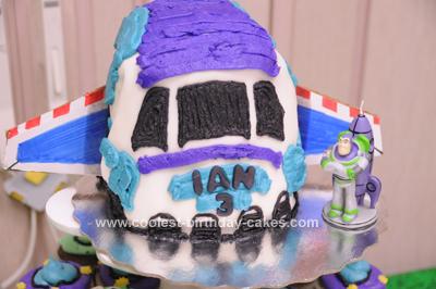 Homemade Buzz Lightyear Rocket Birthday Cake