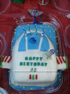 Homemade Buzz Lightyear's Spaceship Cake