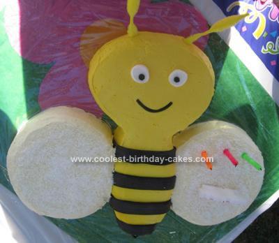 Homemade Buzzy Bee Birthday Cake