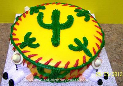 Homemade Cactus Cake