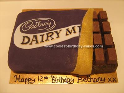 Homemade Cadburys Dairy Milk Chocolate Cake