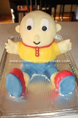 Marvelous Coolest Caillou 3D Cake Funny Birthday Cards Online Elaedamsfinfo