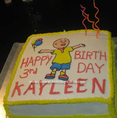 Remarkable Cool Homemade Caillou Birthday Cake Funny Birthday Cards Online Elaedamsfinfo