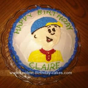 Awesome Easy Caillou Birthday Cake Funny Birthday Cards Online Elaedamsfinfo