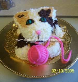 Homemade Calico Kitten Cake