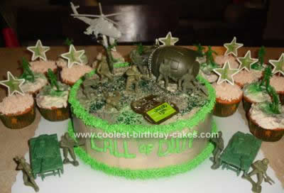 Homemade Call of Duty Cake