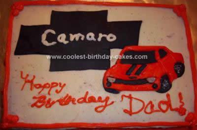 Homemade Camaro Cake