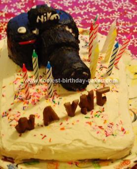 Homemade Camera Cake