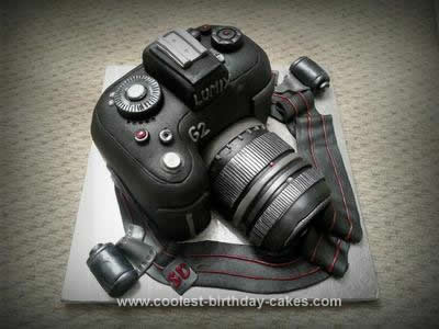 Homemade Camera Cake