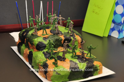 Homemade Camo Cake Design