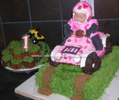 Homemade Camo Quad Birthday Cake