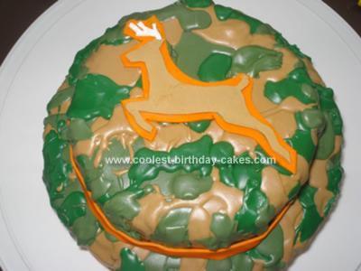 Homemade Camouflage Birthday Cake