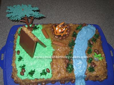 Homemade Camp Birthday Cake